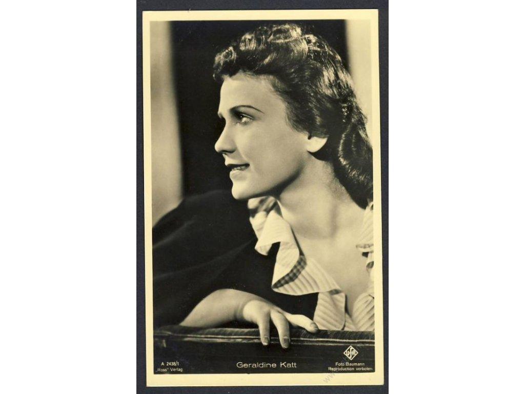 Herečka, Geraldine Katt, foto Baumann, cca 1930