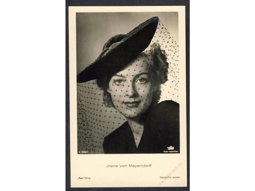 Herečka, Irene Von Meyendorff, foto Haenchen, cca 1930