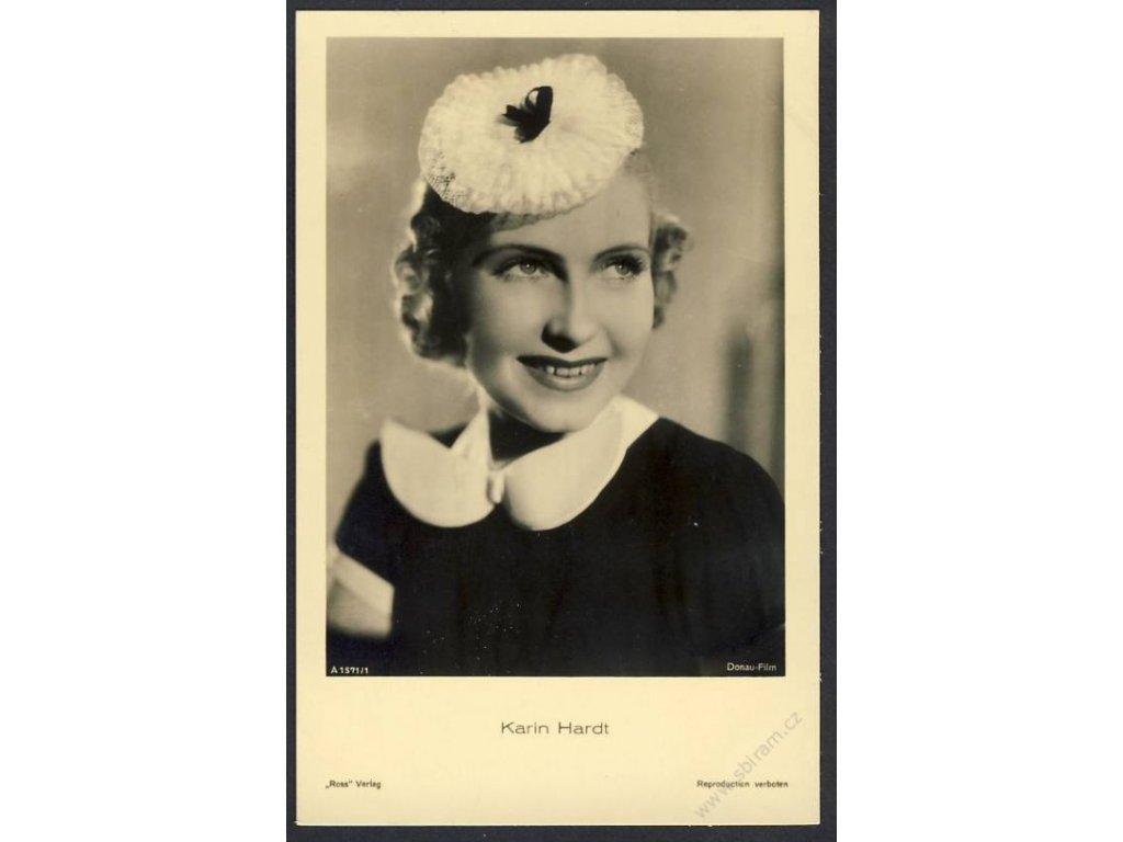 Herečka, Karin Hardt, foto Donau-Film, cca 1930