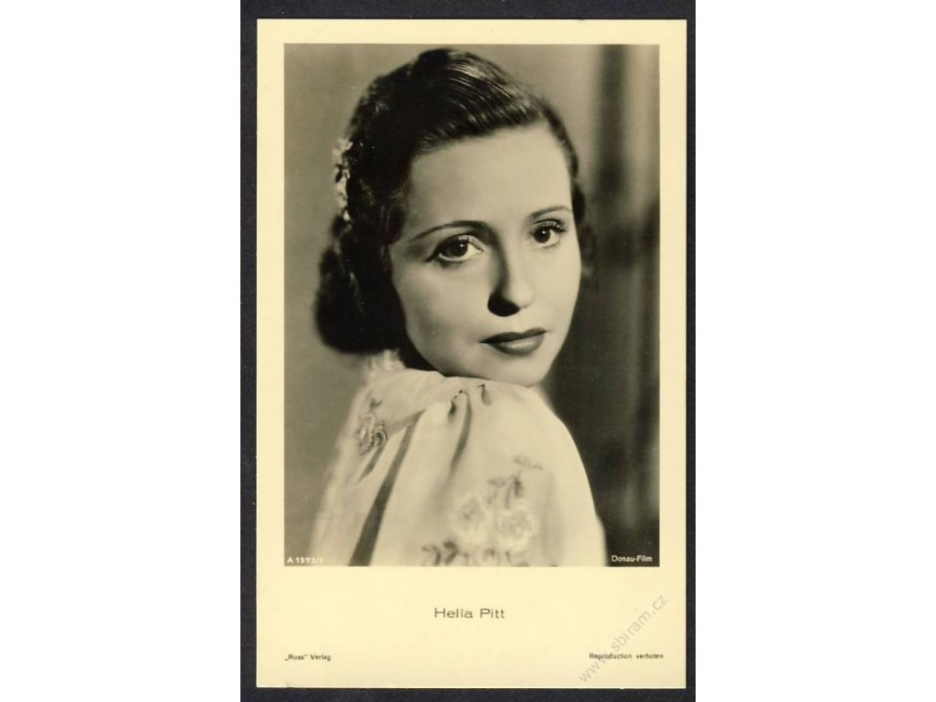 Herečka, Hella Pitt, foto Donau-Film, cca 1930
