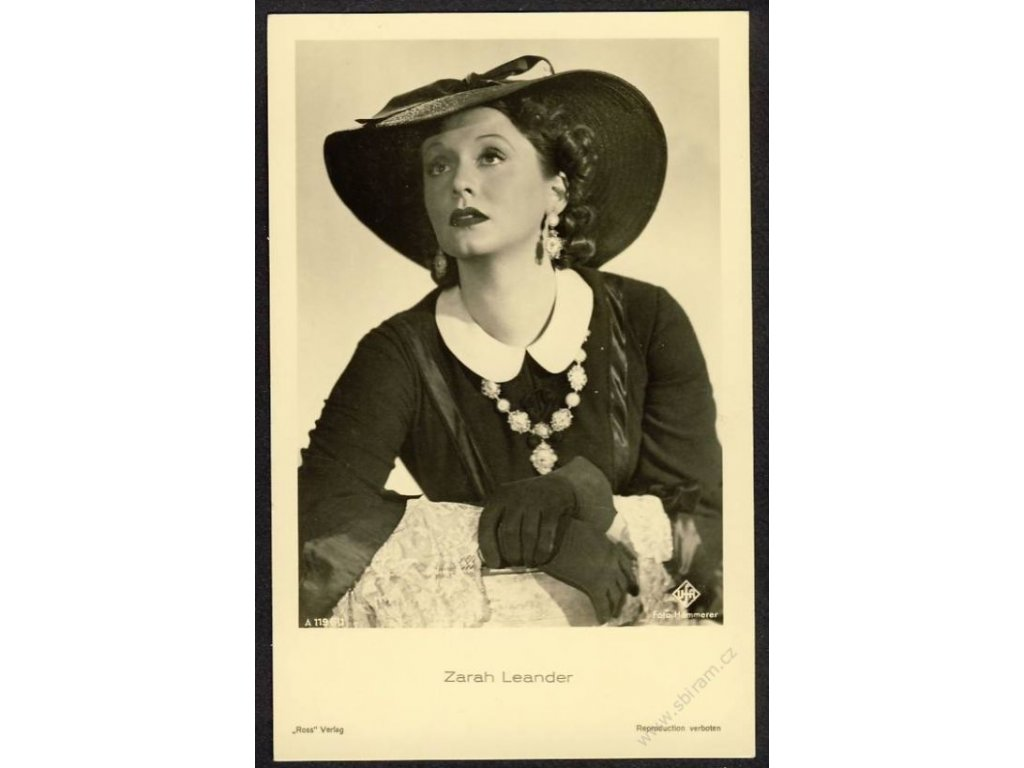 Herečka, Zarah Leander, foto Hämmerer, cca 1930