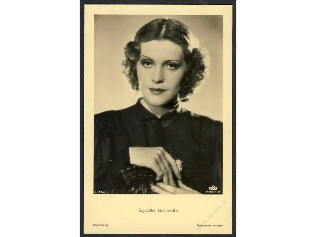 Herečka, Sybille Schmitz, foto Meteor-Film, cca 1930