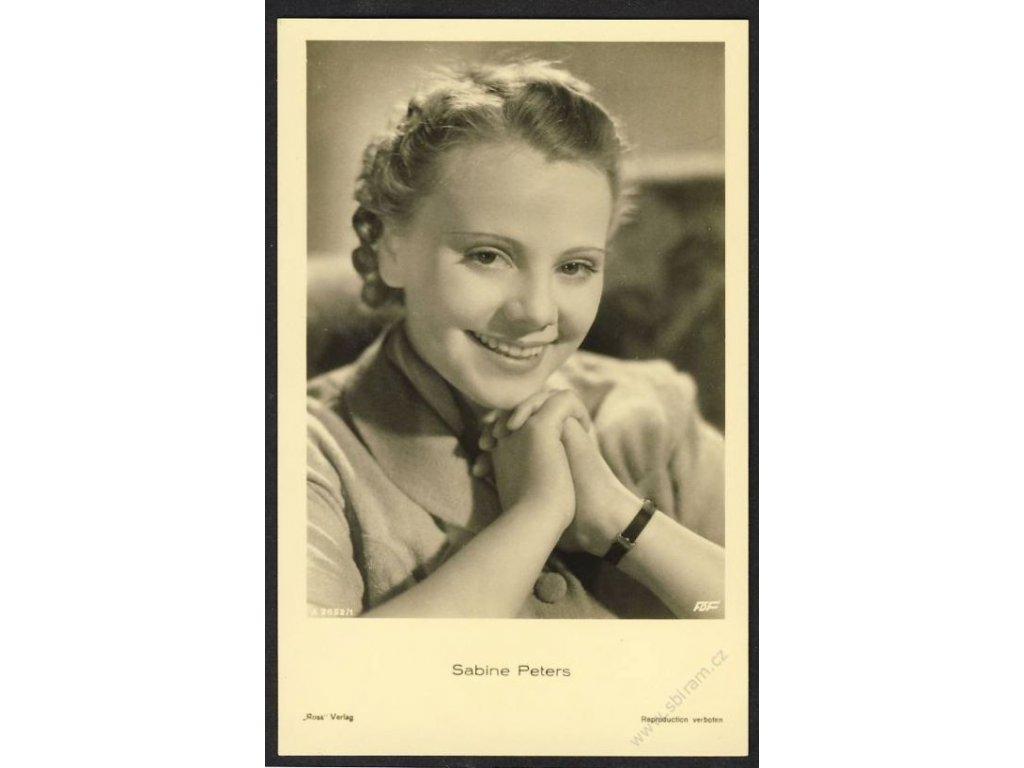 Herečka, Sabine Peters, foto FOF, cca 1930