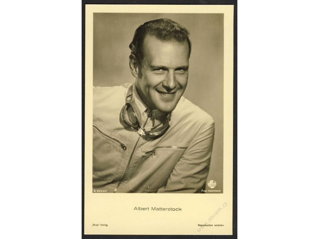 Herec, Albert Matterstock, foto Hämmerer, cca 1930
