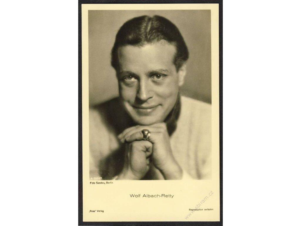 Herec, Wolf Albach-Retty, foto Sandau Berlin, cca 1930