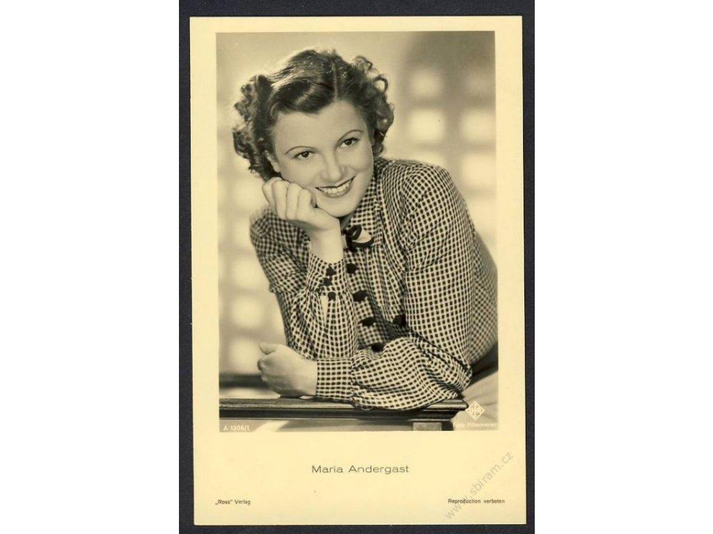 Herečka, Maria Andergast, foto Hämmerer, cca 1930