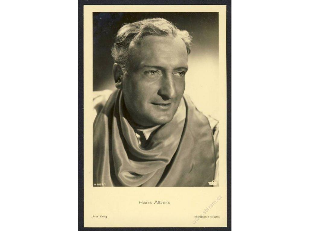 Herec, Hans Albers, foto Tobis, cca 1930
