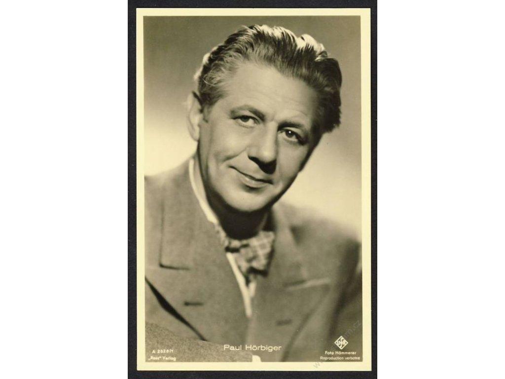 Herec, paul Hörbiger, foto Hämmerer, cca 1930