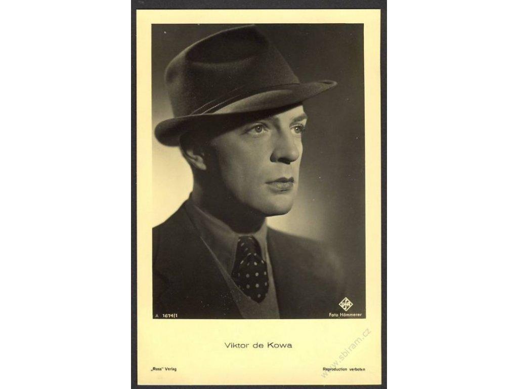 Herec, Viktor de Kowa, foto Hämmerer, cca 1930