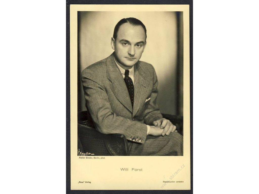Herec, Willi Forst, foto Atelier Binder Berlin, cca 1930