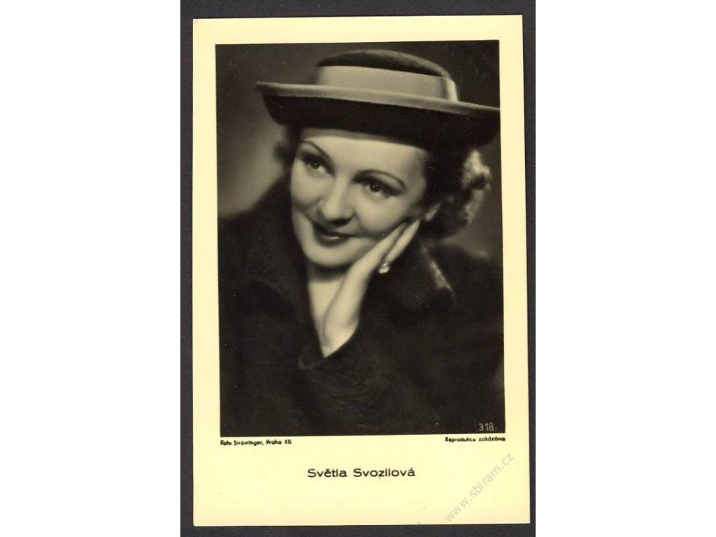 Herečka, Světla Svozilová, foto Ströminger Praha, cca 1930