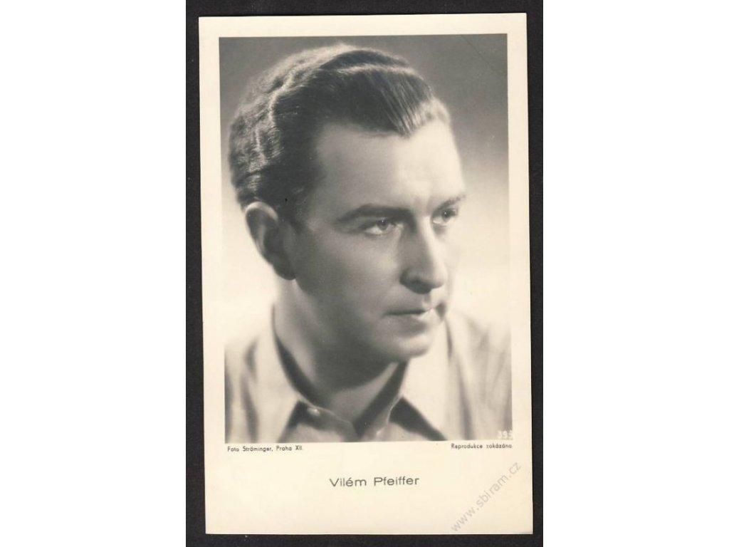Herec, Vilém Pfeiffer, foto Ströminger Praha, cca 1930