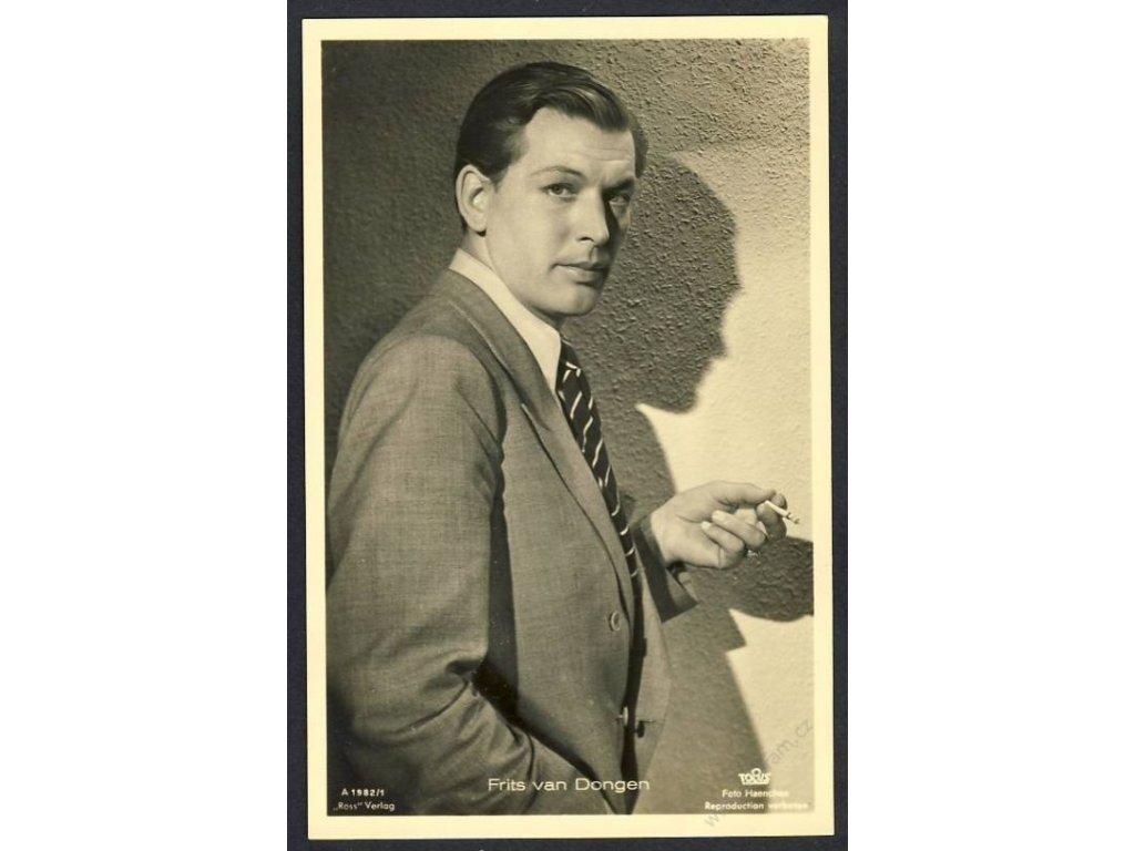 Herec, Frits van Dongen, foto Haenchen, cca 1930