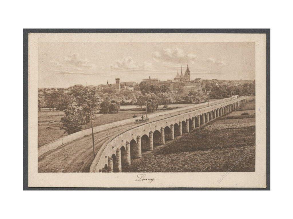 34 - Louny, pohled na město, ca 1927
