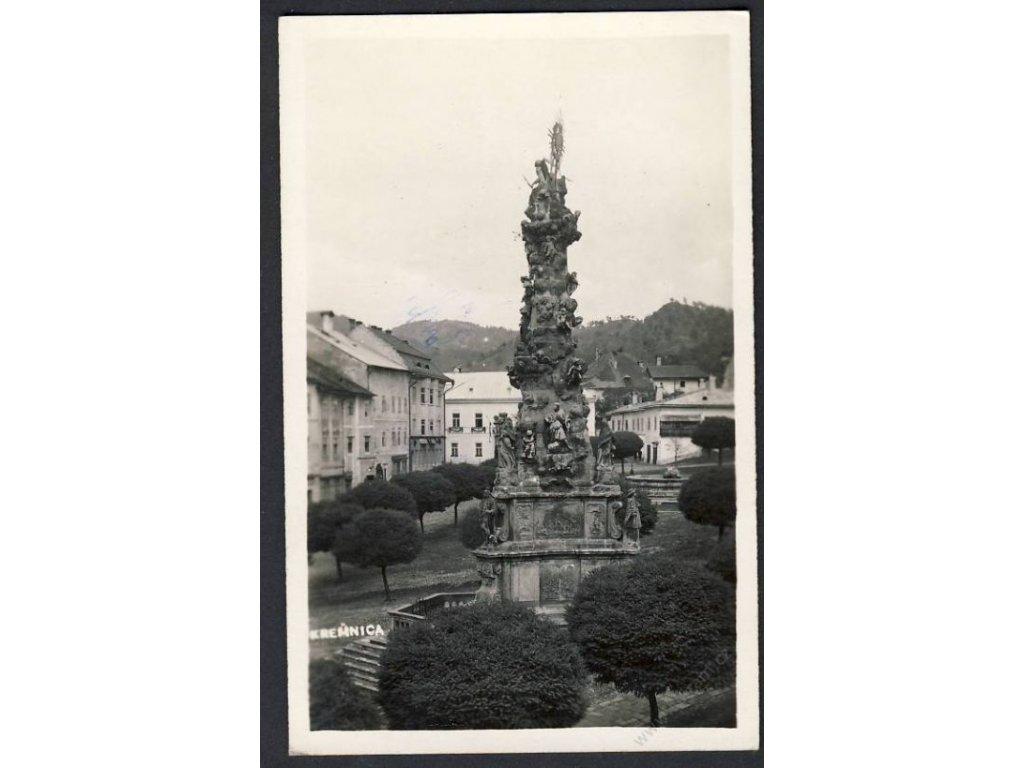 Slovensko, Kremnica, motový sloup na náměstí, cca 1930