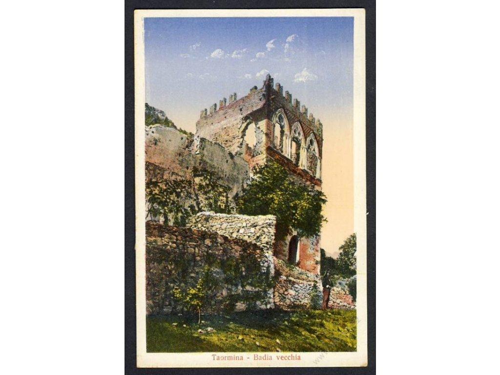 Italy, Sicily, Taormina, Badia vecchia, cca 1915
