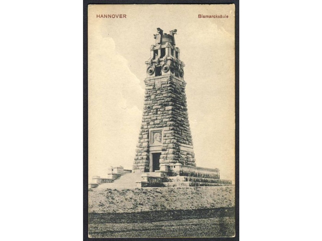 Germany, Lower Saxony, Hanover, Bismarck memorial, cca 1908