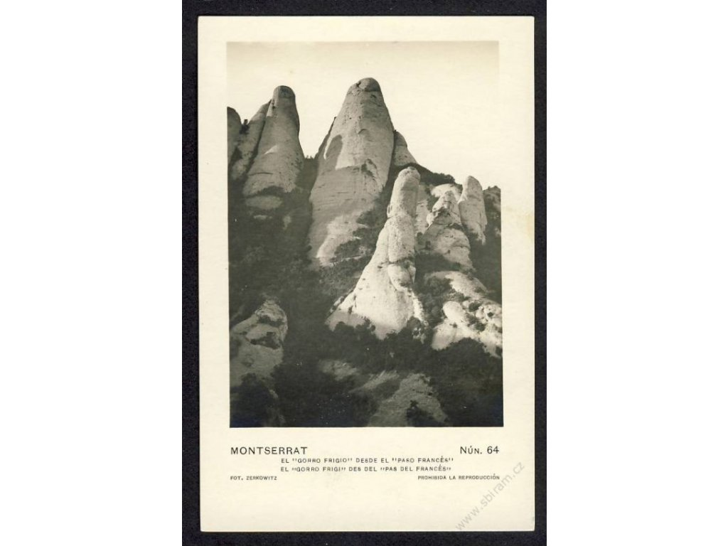"Spain, Catalonia, mountain Montserrat, ""Phrygian Cap"", cca 1915"