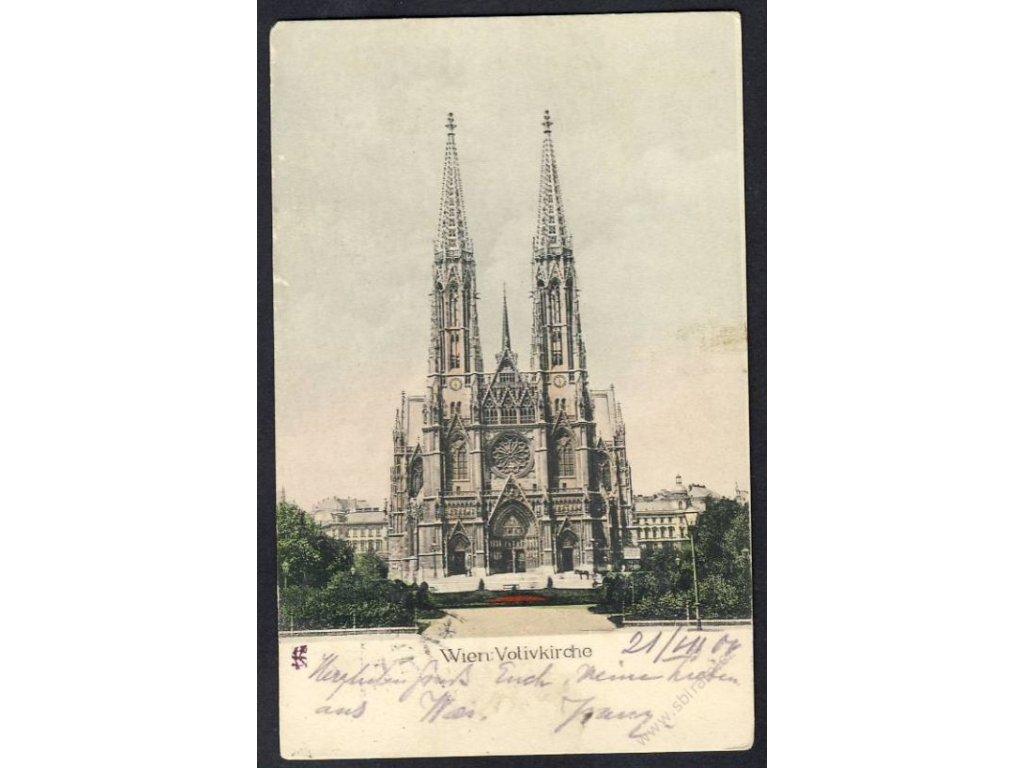 Austria, Vienna, Jedlesee, Votive Church, cca 1900