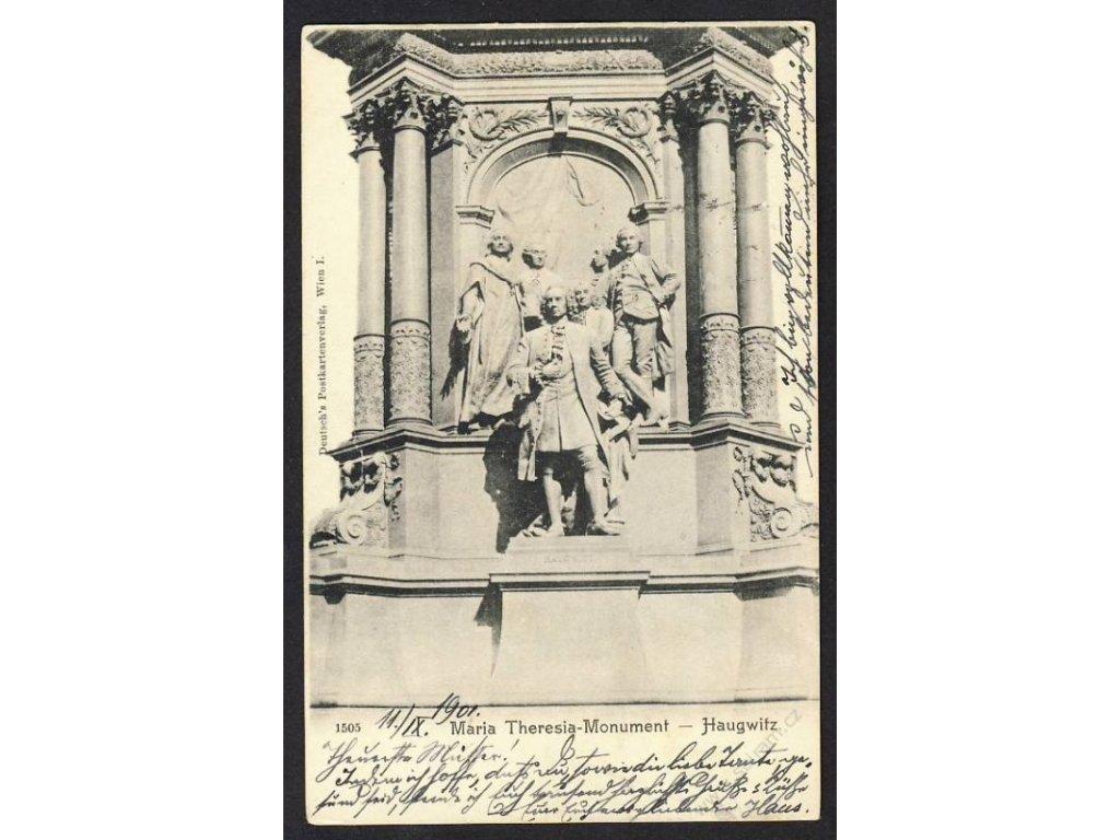 Austria, Vienna, Maria Theresa monument with Friedrich Wilhelm von Haugwitz, cca 1900