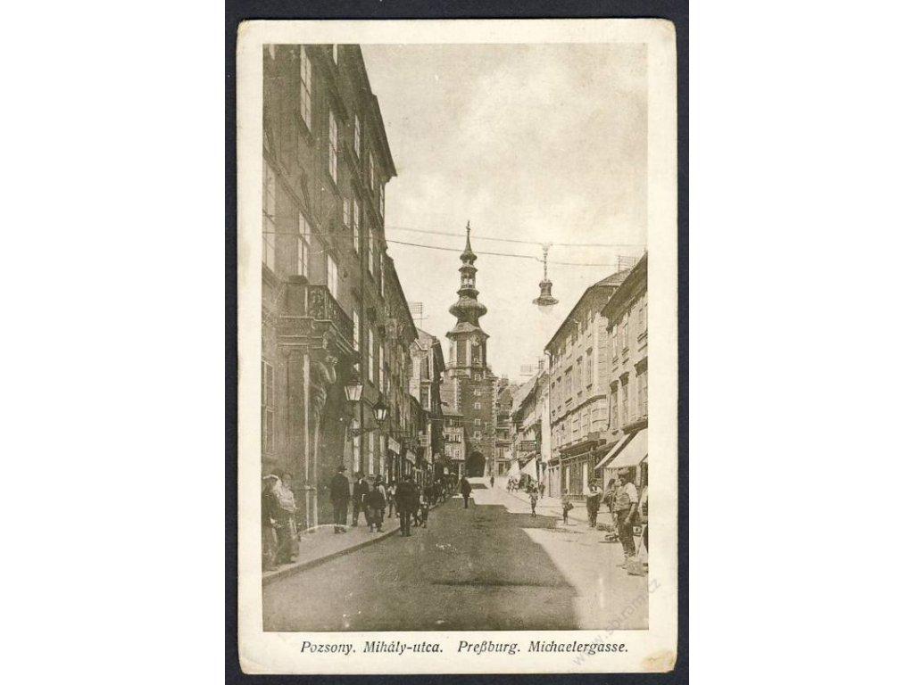 Slovensko, Bratislava, Michalská ulice, cca 1927