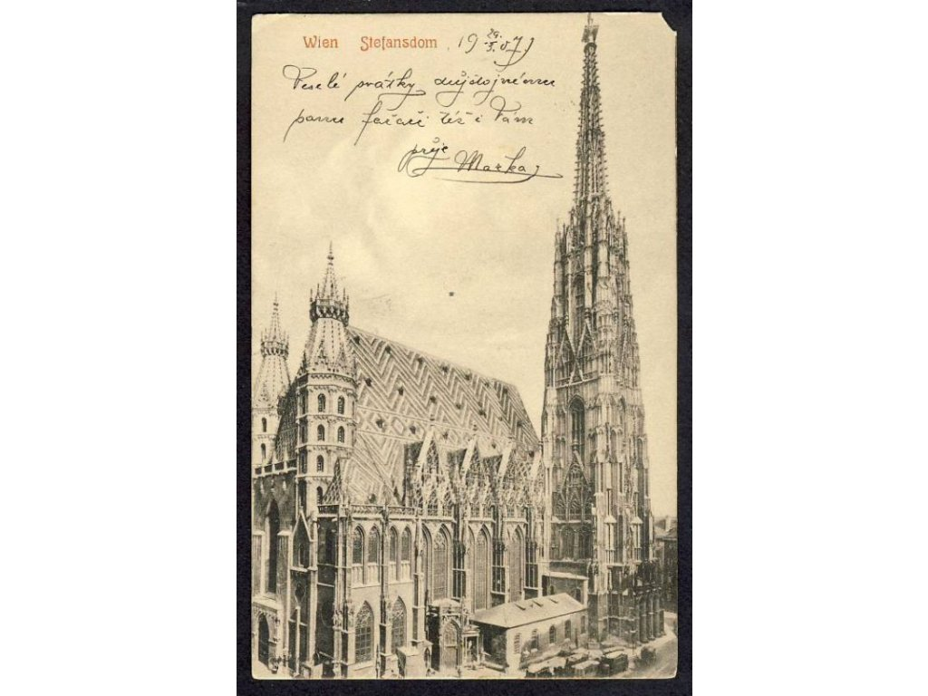 Austria, Vienna, St. Stephen&apos!s Cathedral, cca 1908
