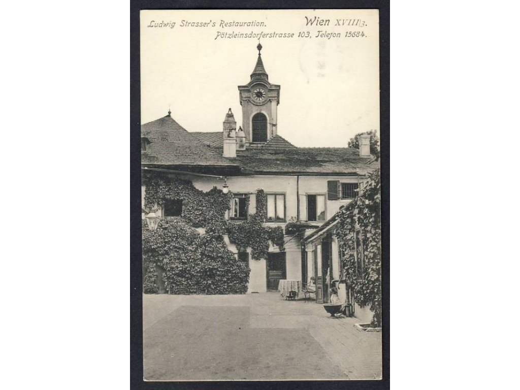 Austria, Vienna, Pötzleinsdorfer street, Lidwig Strasser&apos!s restaurant, cca 1918