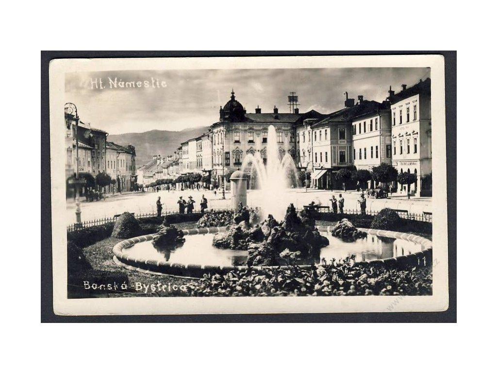 Slovensko, Banská Bytrica, hlavní náměstí, cca 1932