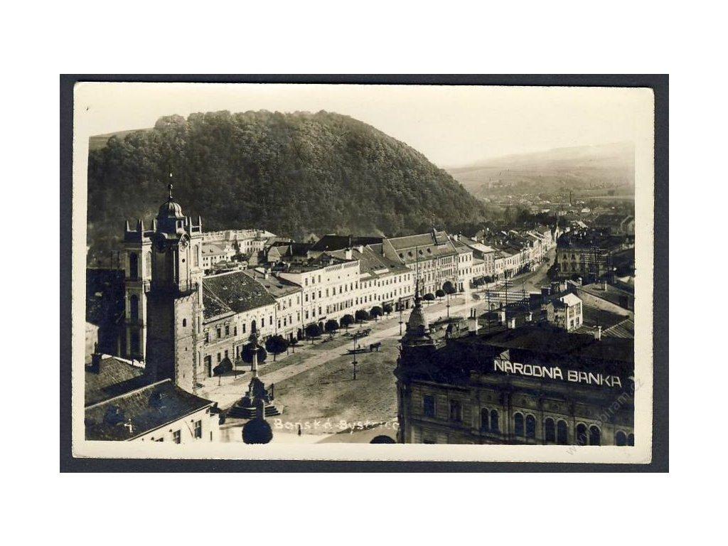 Slovensko, Banská Bytrica, náměstí, cca 1930