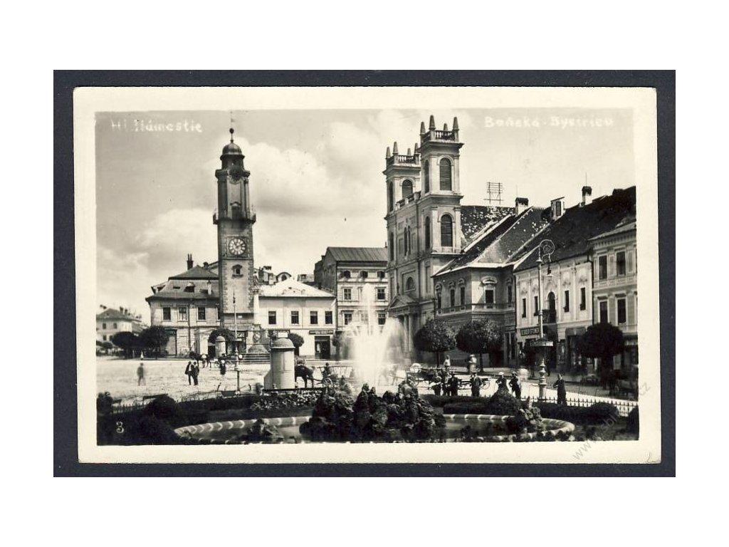 Slovensko, Banská Bytrica, hlavní náměstí, cca 1930