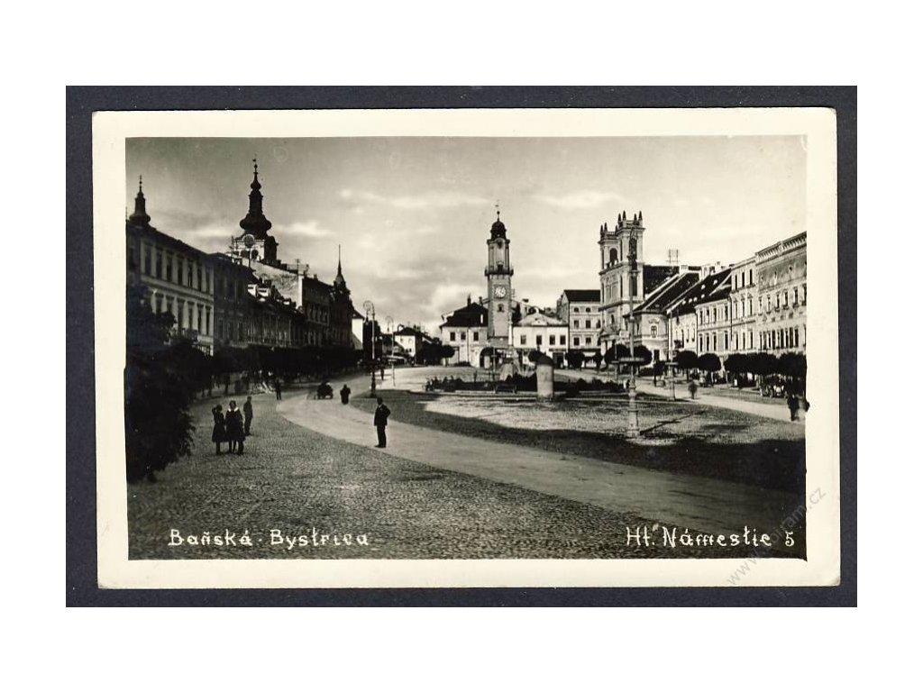 Slovensko, Banská Bytrica, hlavní náměstí, cca 1927