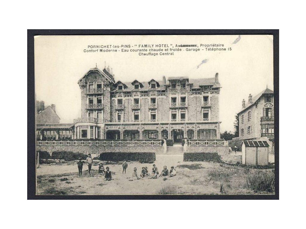 France, Loire-Atlantique, Pornichet, Family Hotel, cca 1915