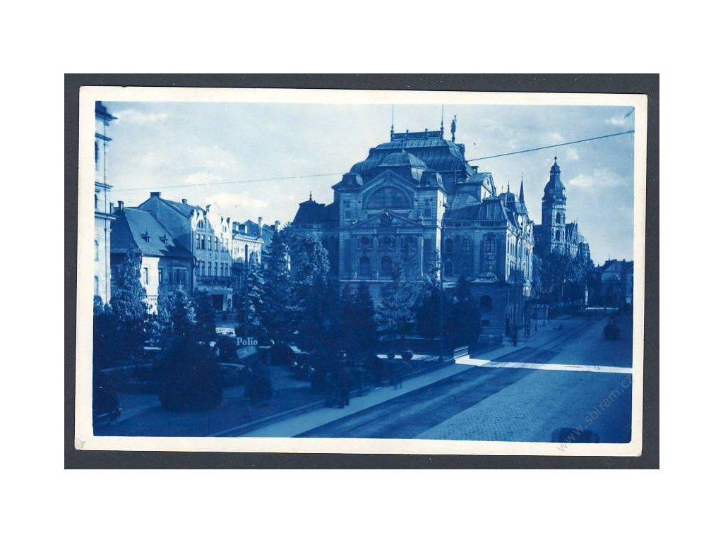 Slovensko, Košice, Štefánikova ulice, divadlo a Dóm, cca 1936