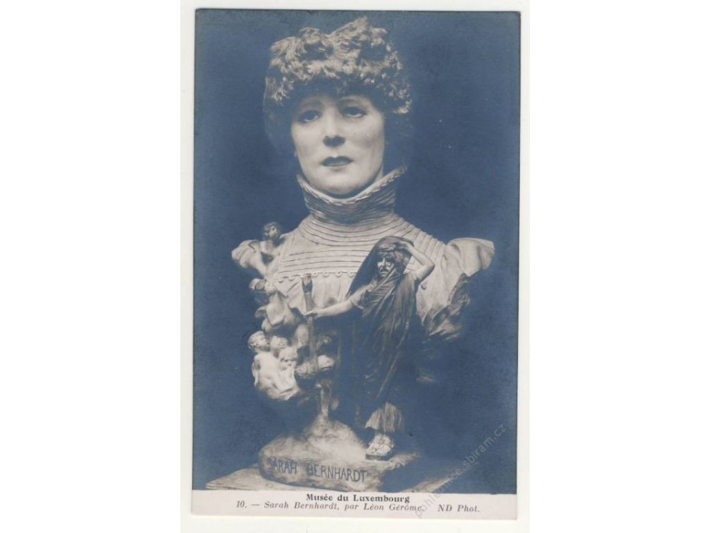 Sarah Bernhardt, busta v muzeu Lucemburku, ca 1925