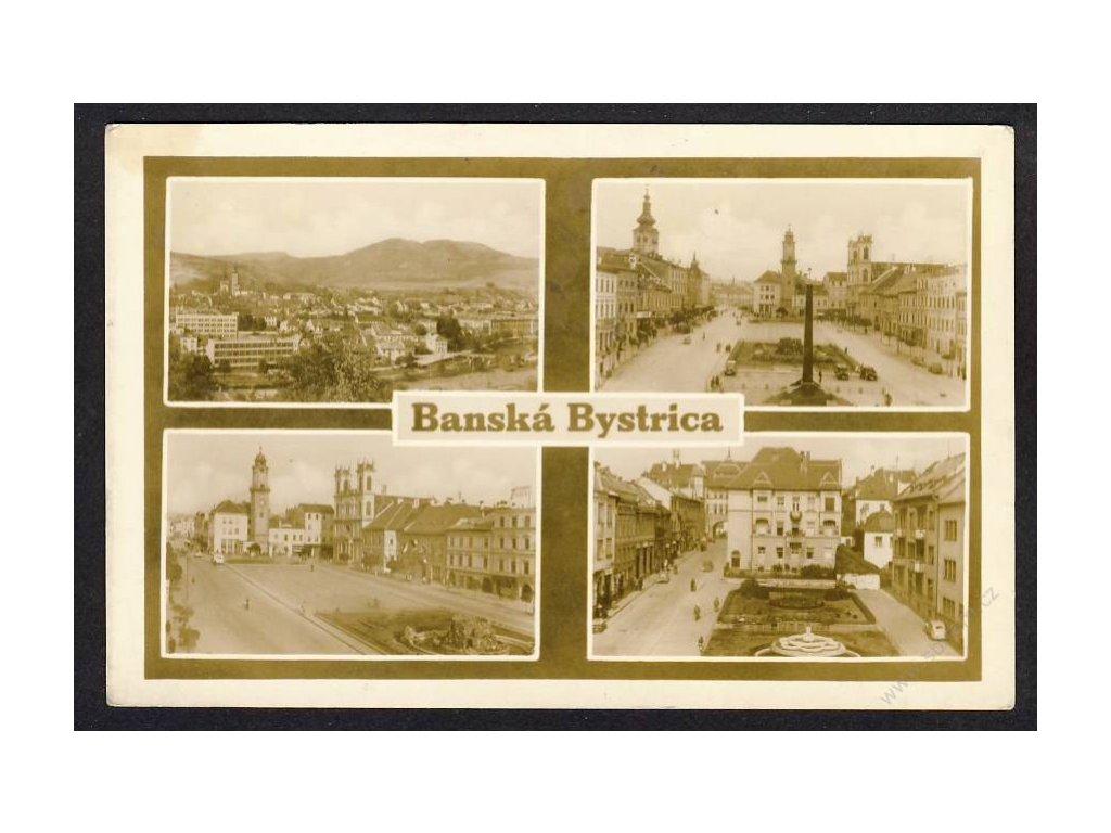 Slovensko, Banská Bytrica, fontána, cca 1928