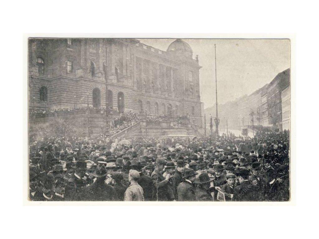 Demonstrace pro právo hlasovací, 10. říjen,ca 1905