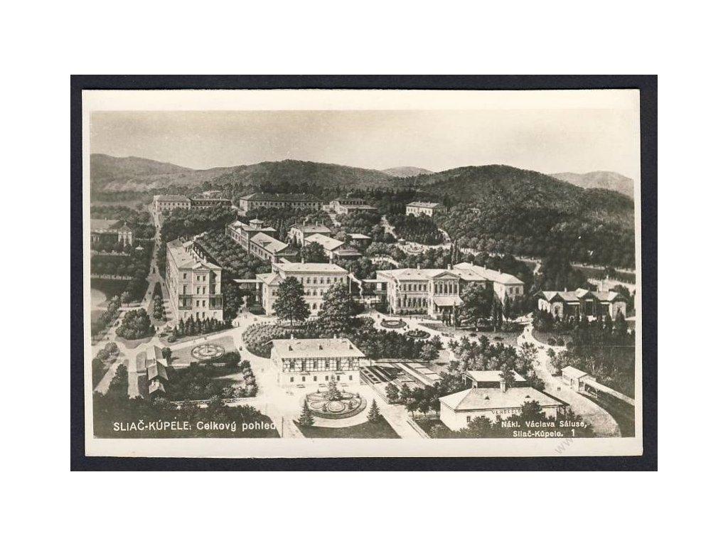 Slovensko, Sliač-Kúpele, celkový pohled, foto Fon, cca 1930