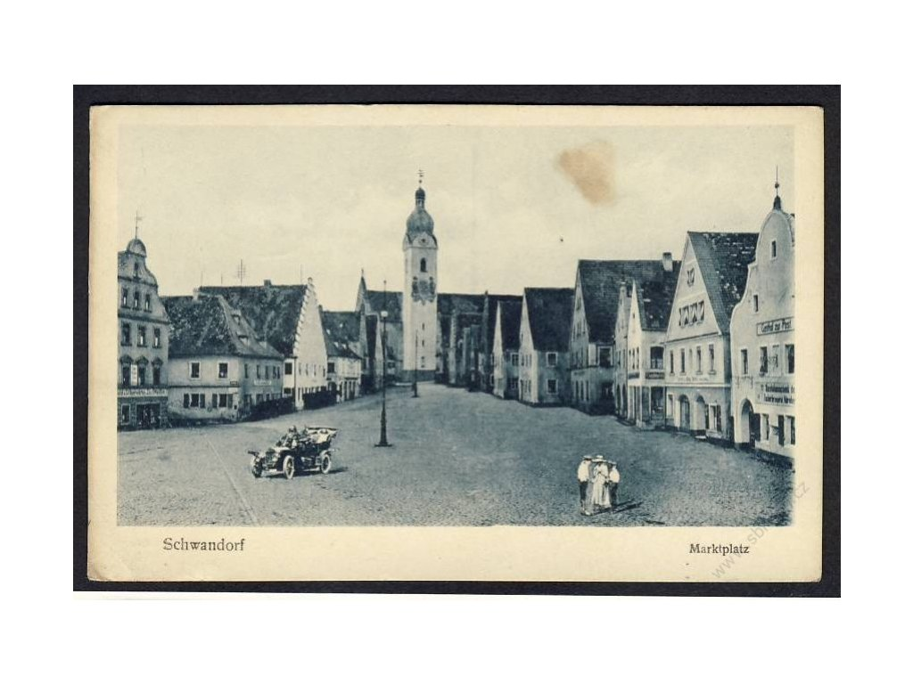 Germany, Bavaria, Schwandorf, marketplace, cca 1923