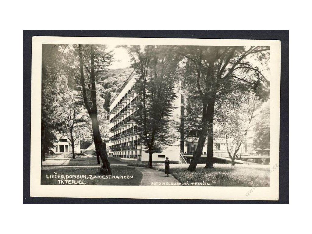 Slovensko, Trenčianské Teplice, liečebný dom suk. zamestnancov, cca 1927