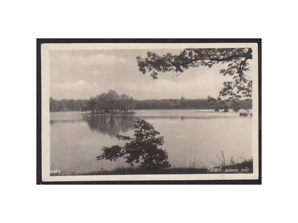 24 - Jindřichohradecko, Třeboň, rybník Svět, cca 1925