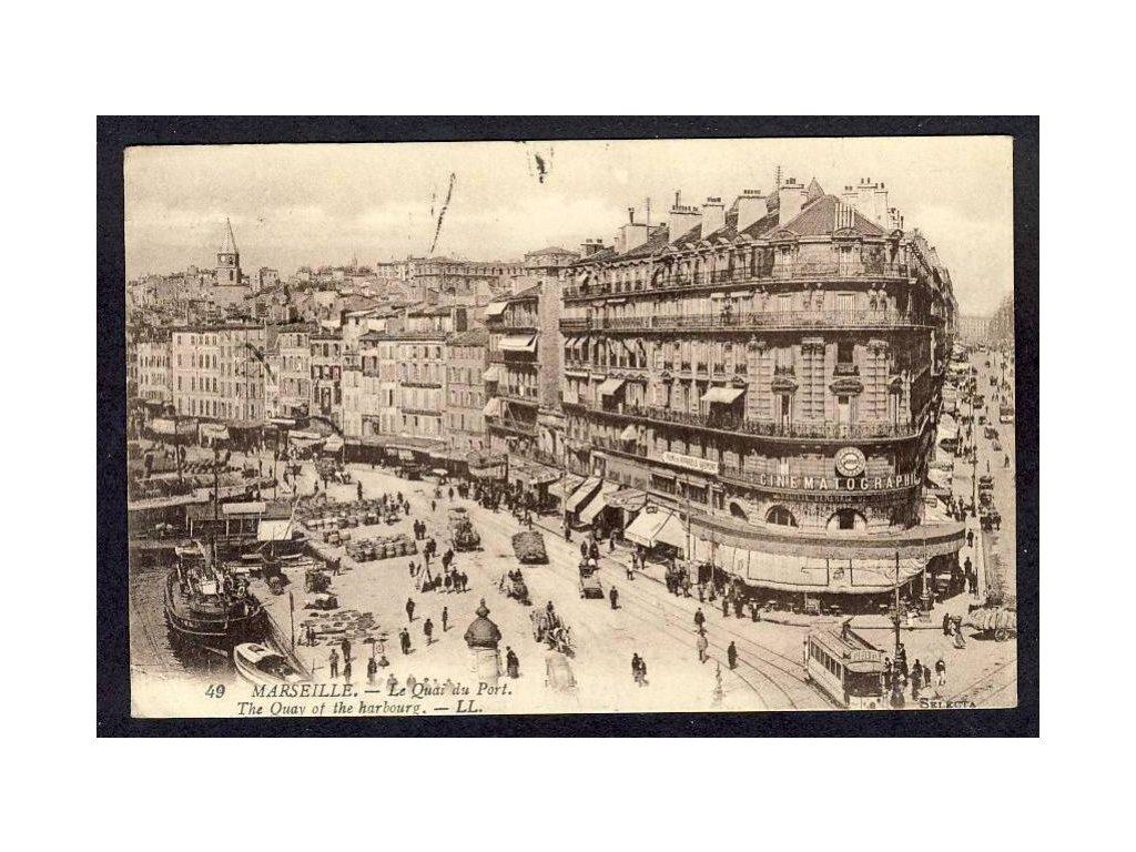 France, Marseille, Le Quai du Port, cca 1915