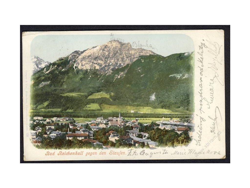 Germany, Upper Bavaria, Berchtesgadener Land, Bad Reichenhall with Staufen, cca 1900