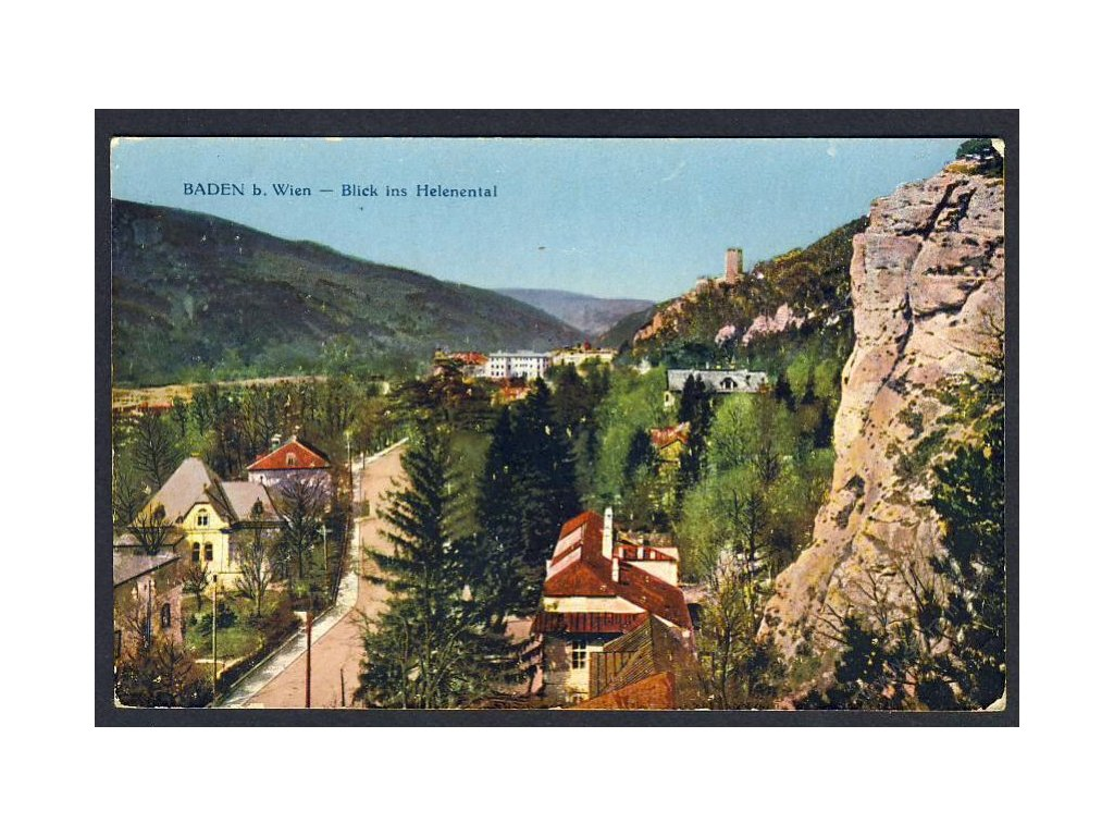Austria, Lower Austria, Neunkirchen, Baden, view from Helenental, cca 1917