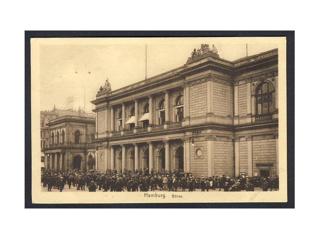 Germany, Hamburg, stock market, cca 1920