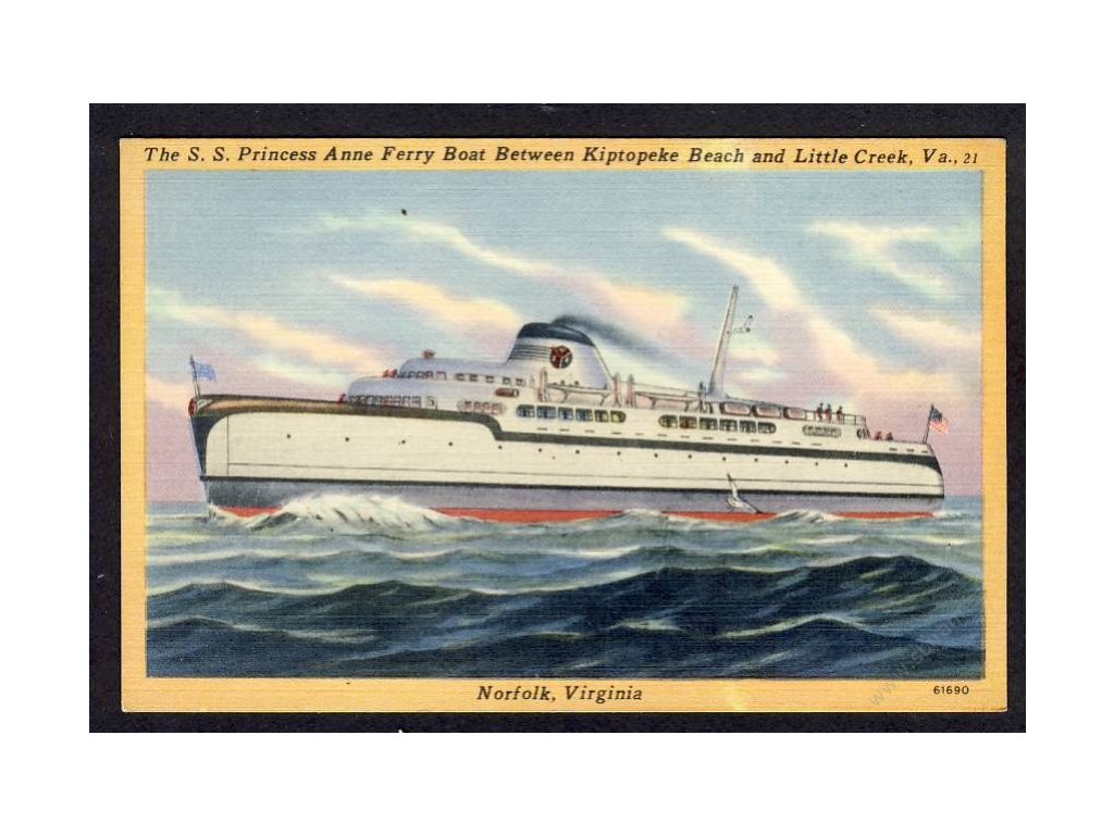 USA, Virginia, Norfolk, The S.S. Princess Anne Ferry Boat, cca 1925