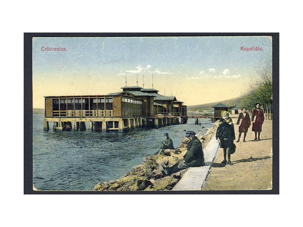 Croatia, Crikvenica, swimming area, cca 1926