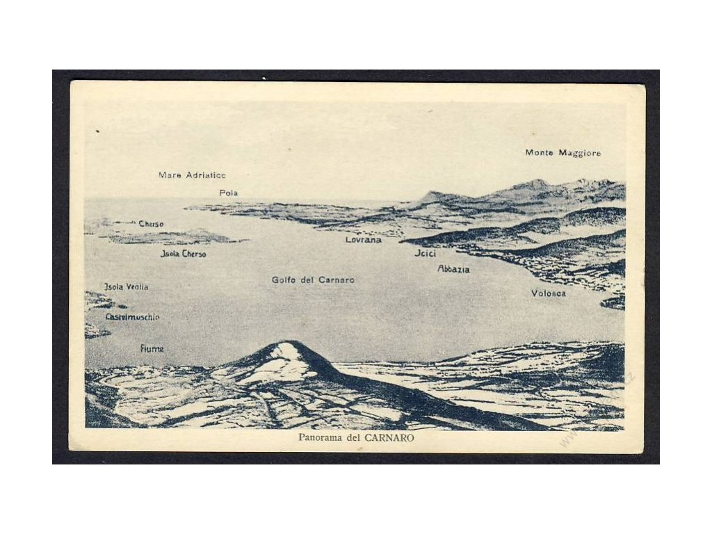 Croatia, Kvarner Gulf, panorama, cca 1925