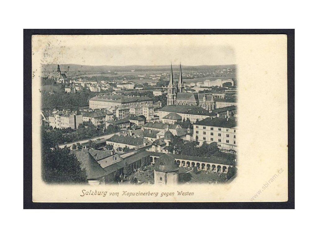 Austria, Salzburg, view from Kapuzinerberg, cca 1908