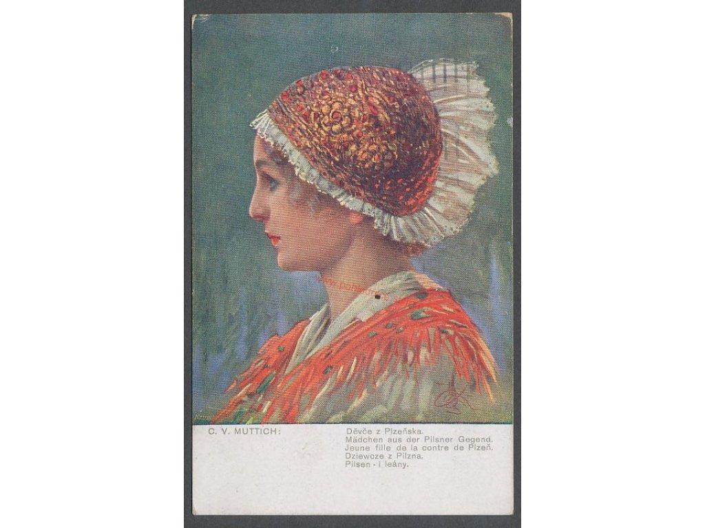 Děvče z Plzeňska, cca 1921
