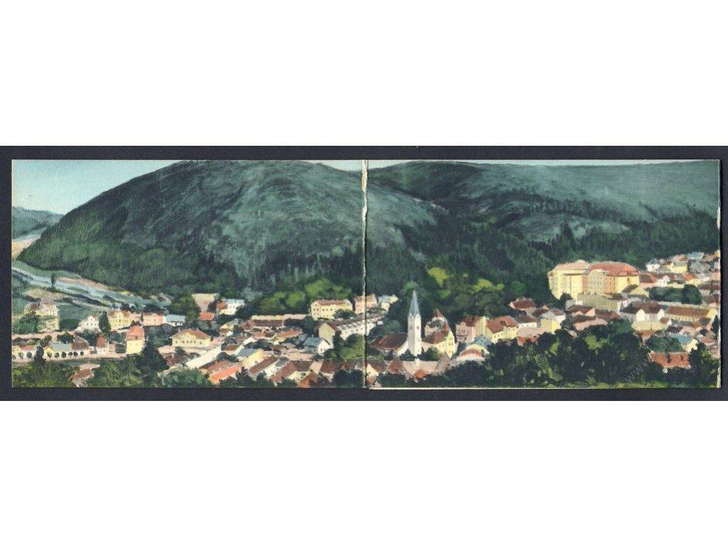Slovensko, Trenčianské Teplice, panorama, cca 1906